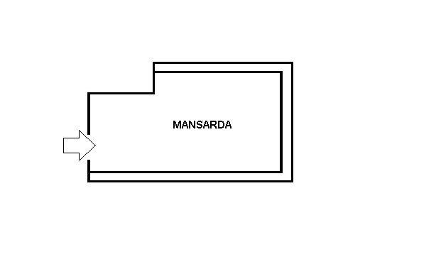 piantina mansarda